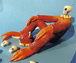 Hermy: Combo Calavera, Roy Wasson Valle, 2006, polymer clay and paint.