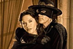 Caped crusaders: Catherine Zeta-Jones and Antonio Banderas reprise their 1998 roles in The Legend of Zorro.