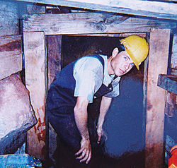 Ron's son works in the mine.