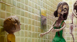 A scene from Lee Hardcastle&#039;s &quot;T is for Toilet,&quot; a short in The ABCs of Death.
