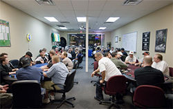 A busy Friday night of hold 'em at Poker Nation, an off-res joint in west Phoenix.
