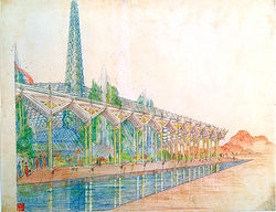 Oasis in the Desert, a plan for the Arizona State Capitol in Phoenix (circa 1957)
