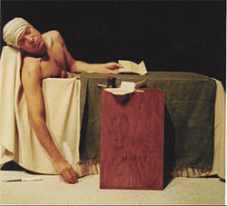 Look! Even the actors are falling asleep! Franc Gaxiola in Marat/Sade.