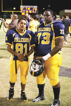 "Close friends and senior co-captains Gaby Manquero and Tre Fields refer to themselves as ""Falcons for life,"" despite their hard times on the gridiron."