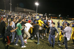 Carl Hayden's student body has had nothing to celebrate regarding its football team for many years. But everyone made up for lost time after the San Luis game.