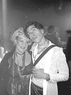 Mare and Mark Chisolm during a Safari-sponsored rave.