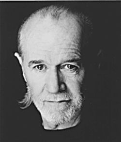 Comedic dogma: George Carlin errupts at the Celebrity Theatre.