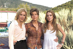 Generation landslide: Jane Fonda, with Georgia Rule costars Felicity Huffman and Lindsay Lohan.