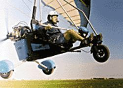 Taking to the skies in Sabre Trikes, ultralight aircraft that glide rather than fly.