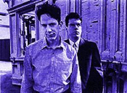 The two Johns: Linnell and Flansburgh are back, peddling their quirky pop on the biggest record label in the world -- the Internet.