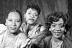 From left, Evelyn Brown-Gray, Nancy Taylor and Erahn Patton-Stinson star as three lonely women in Blues in the Night.
