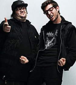DJ Bigie (left) and DJ Epidemic