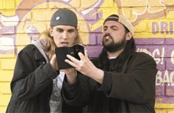 More of the same: Jason Mewes and Kevin Smith once again reprise their roles as Jay and Silent Bob in Clerks II.
