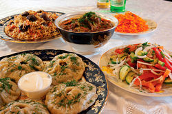 Traditional foods from Uzbekistan have a gentle taste and aroma, but still have a hearty foundation.