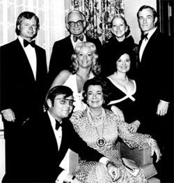 Goldwater family portrait, with Michael (left), Barry, Barry Jr. (right) and wife Peggy (below center).