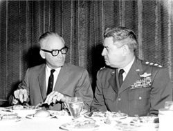 UFO no: U.S. Air Force General Curtis LeMay refused Goldwater&#039;s request to view sensitive UFO data.