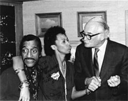 Partying hard: Sammy Davis Jr. and wife Altovise, yukking it up with Barry.