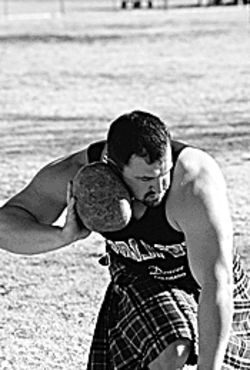 Passing that stone is just one of the Highland Games.