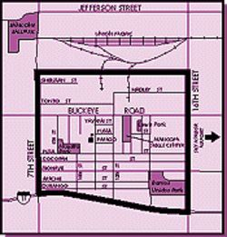 "Barrios Unidos ""Target Area."" Click HERE for a larger view of map."