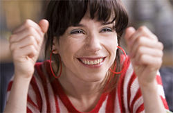 "The new ""Idiot"":  Sally Hawkins is the unrelentingly upbeat Poppy in Mike Leigh's Happy-Go-Lucky."
