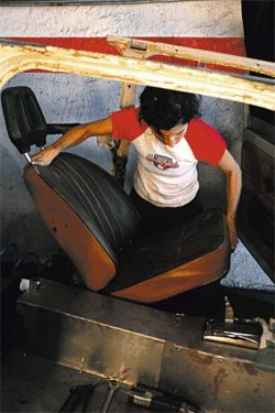 .  .  . and makes sure the Trabant's seats will fit inside its reworked interior.