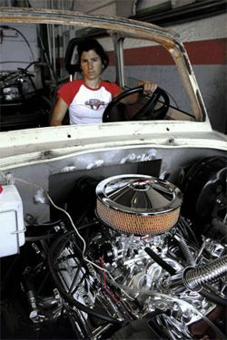 This Chevy V8 engine replaced the Trabant's lawn-mower-size two-stroke.