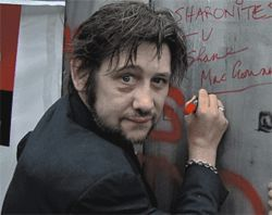 Time in a bottle: Pogues singer Shane MacGowan.
