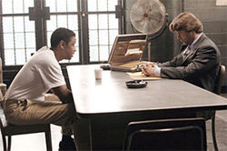 Dealer of the century: Denzel Washington and Russell Crowe, making a living the only way they know how, in American Gangster.