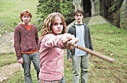 Do you believe in magic?: Rupert Grint, Emma Watson and Daniel Radcliffe are back in Harry Potter and the Prisoner of Azkaban.