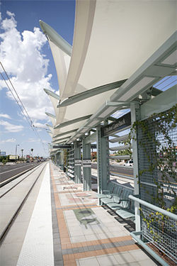 One of several new light-rail stops.