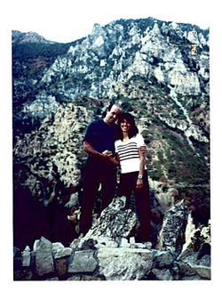 Doug and Faylene Grant at Timpanogos Cave National Monument in Utah, shortly before her mysterious 60-foot fall.
