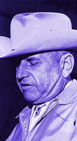 Eugene Hensley, brother of James, photographed in  New Mexico in 1966 at his federal tax evasion trial.