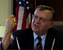 Sheriff Joe Arpaio and his lawyer harangued two county attorneys&#039; offices to seek a criminal charge against Dougherty.