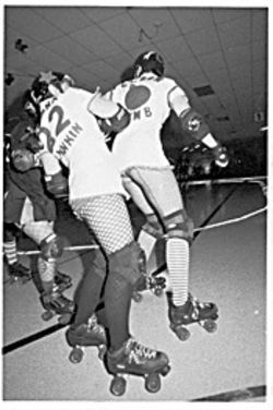Roller derby: It's not ice hockey, but it can be brutal.