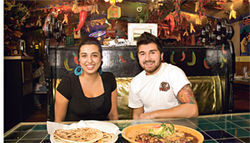 Keeping the home fires burning: Reina Torres and Drew Meiton show off the spicy recipes of their grandmother, Los Dos founder Victoria Chavez.