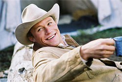 Heath Ledger in 2005's Brokeback Mountain