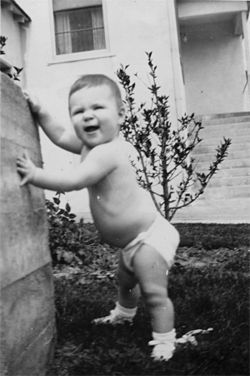 "Cecelia Walker as a toddler. She calls this snapshot ""my first topless photo."""