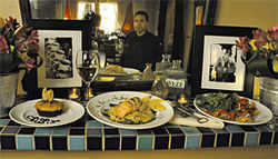 Mirror, mirror: Chef Jose Hernandez reflects upon his tasty creations.