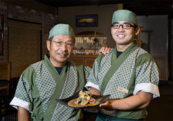 Chef-owner Hiro Nakano serves sushi with a smile, along with his son, Leo, who&#039;s been training since he was 13 years old.