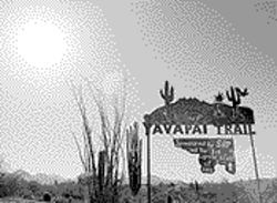 The Yavapai Trail — a guided nature trail at the 'Hman 'shawa elementary school — incorporates the study of plants and animals with the history of the Yavapai Indians.