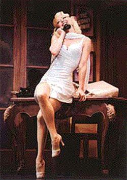 Angie Schworer plays Swedish bombshell Ulla in The Producers.