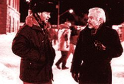 Holiday on ice: Russell Crowe and Burt Reynolds in Mystery, Alaska.