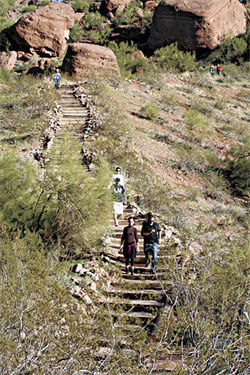 Hiking Camelback Mountain is free — and healthful, too.