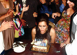Noor Almaleki with friends at her 20th and final birthday party in February 2009.