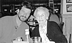 Lucille Ayers with her son James about a year before her death.