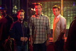 White whine: Charlie Day, Jason Sudeikis, and Jason Bateman in Horrible Bosses.