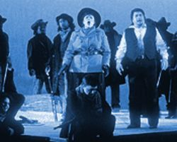 Pamela South (alternating with Mary Jane Johnson) plays the title role in La Fanciulla del West.