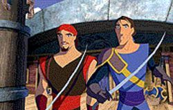 Brad Pitt is Sinbad and Joseph Fiennes is Prine Proteus in  Sinbad:  Legend of the Seven Seas .