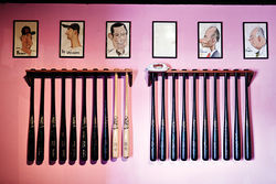 The Pink Pony&#039;s collection of baseball memorabilia, though less prominent than it once was, still adorns the walls.