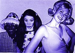 Busch league: From left, Jourdan Green, Michelle Wilkey and Jessica Makinson in Psycho Beach Party.